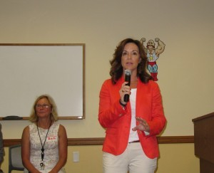 (Left to right) Barb Farrell Swenson, Regional Manager, South County Regional Library and State Senator Lizbeth Benaquisto.