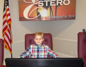 in mayor's chair