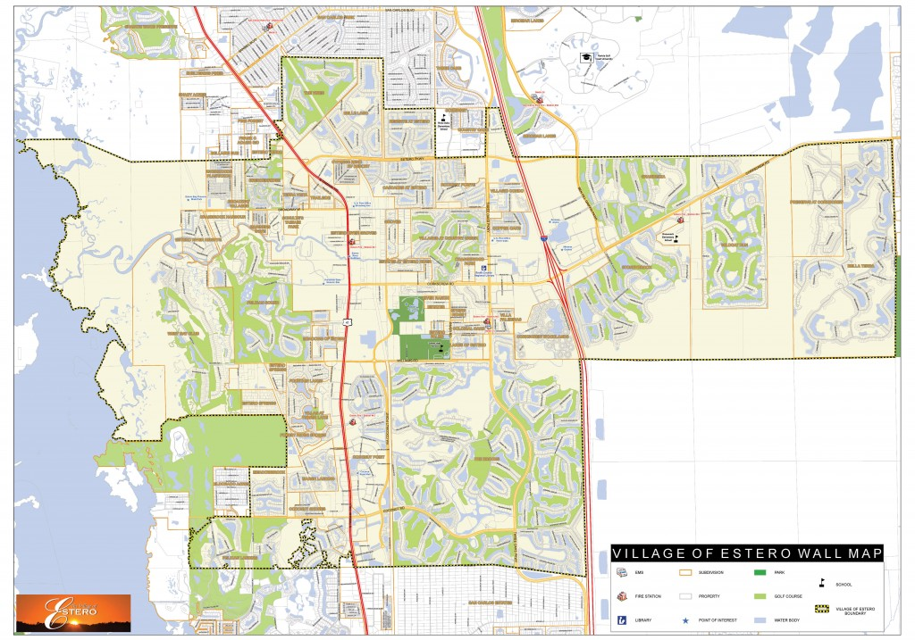 Map Of Estero Florida Village Boundaries – Village of Estero, FL