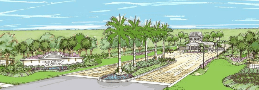 Corkscrew Crossing rendering